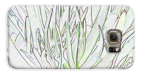 Succulent Leaves In High Key Galaxy S6 Case