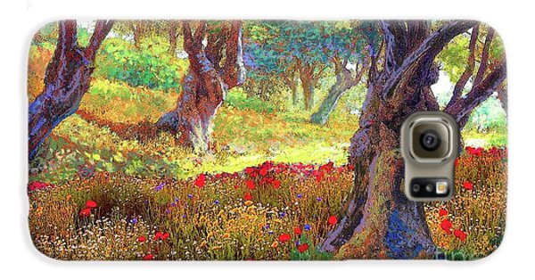 Tranquil Grove Of Poppies And Olive Trees Galaxy S6 Case