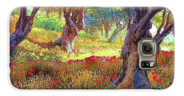 Daisy Galaxy S6 Case - Tranquil Grove Of Poppies And Olive Trees by Jane Small