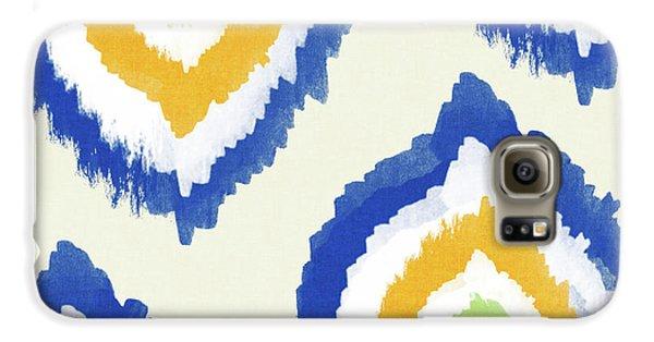 Summer Ikat- Art By Linda Woods Galaxy S6 Case by Linda Woods