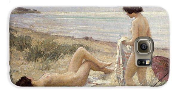 Nudes Galaxy S6 Case - Summer On The Beach by Paul Fischer