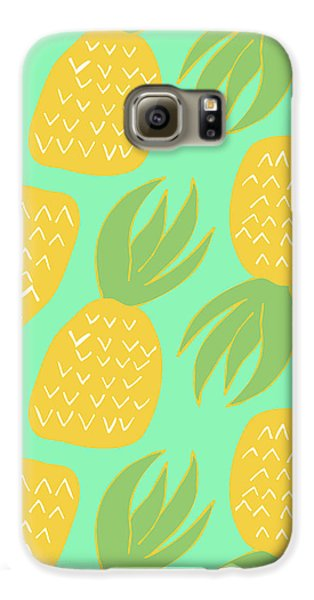Summer Pineapples Galaxy S6 Case by Allyson Johnson