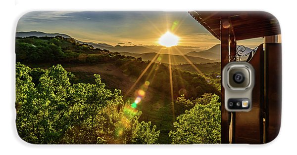 Sunburst View From Dellas Boutique Hotel Near Meteora In Kastraki, Kalambaka, Greece Galaxy S6 Case