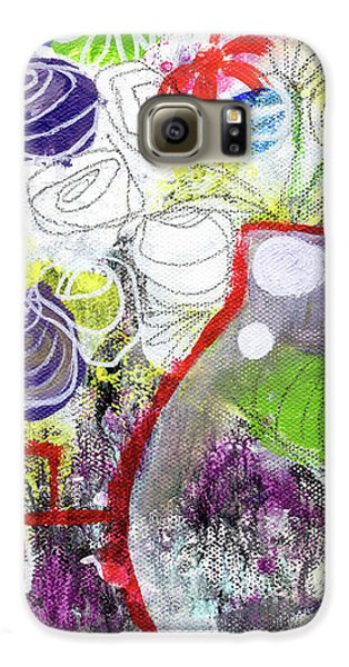 Sunday Market Flowers 3- Art By Linda Woods Galaxy S6 Case by Linda Woods