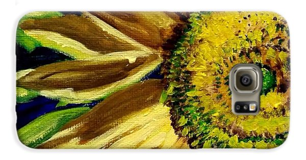 Galaxy S6 Case featuring the painting Sunflower Glow by Patti Ferron