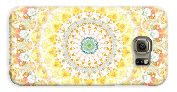 Sunflower Galaxy S6 Case - Sunflower Mandala- Abstract Art By Linda Woods by Linda Woods