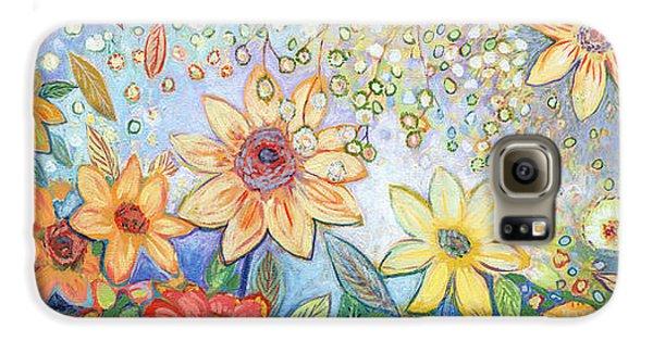 Sunflower Galaxy S6 Case - Sunflower Tropics by Jennifer Lommers