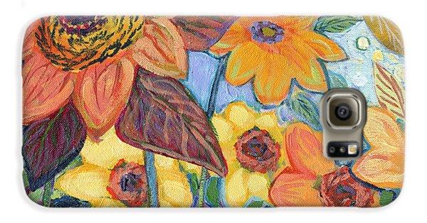 Sunflower Galaxy S6 Case - Sunflower Tropics Part 1 by Jennifer Lommers