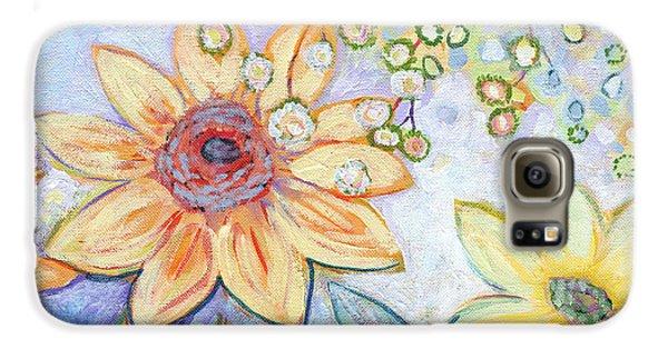 Sunflower Galaxy S6 Case - Sunflower Tropics Part 2 by Jennifer Lommers