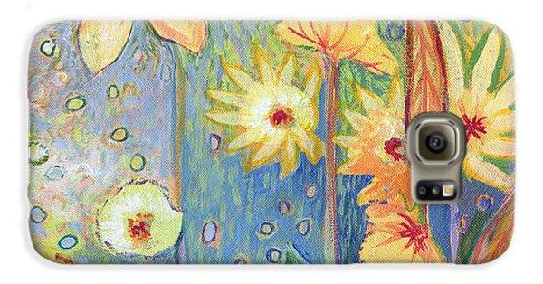 Sunflower Galaxy S6 Case - Sunflower Tropics Part 3 by Jennifer Lommers