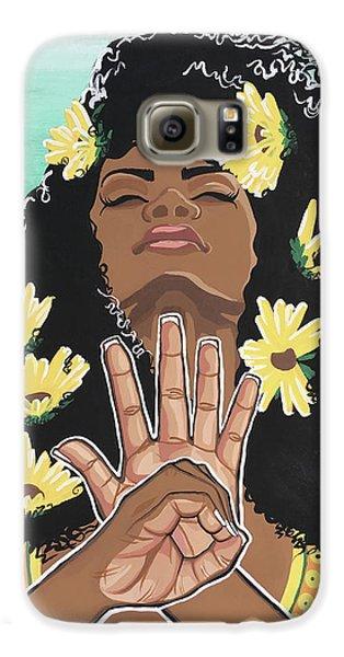 Sunflower Galaxy S6 Case - Sunflowers And Dashiki by Alisha Lewis