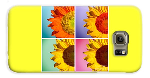 Sunflower Galaxy S6 Case - Sunflowers Collage by Mark Ashkenazi