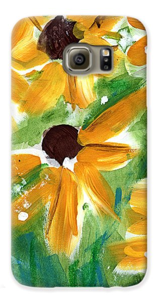 Sunflower Galaxy S6 Case - Sunflowers by Linda Woods