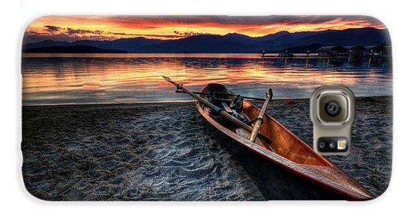 Boat Galaxy S6 Case - Sunrise Boat by Matt Hanson