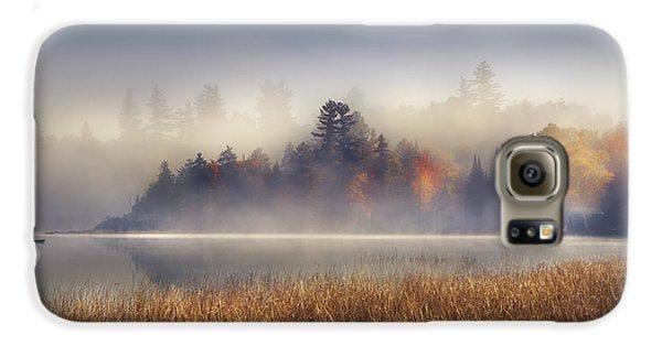 Boat Galaxy S6 Case - Sunrise In Lake Placid  by Magda  Bognar