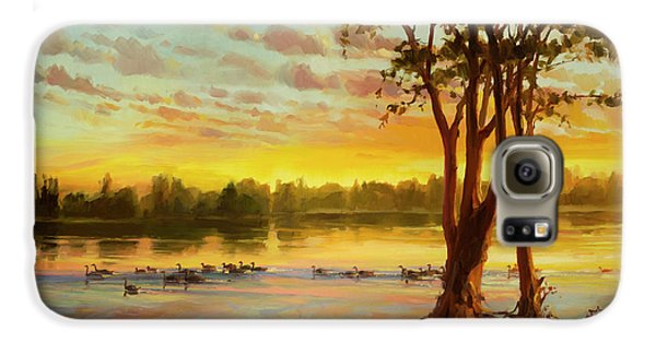 Goose Galaxy S6 Case - Sunrise On The Columbia by Steve Henderson