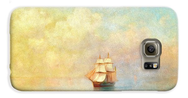 Boat Galaxy S6 Case - Sunrise On The Sea by Georgiana Romanovna