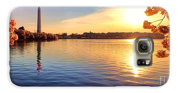 Washington Monument Galaxy S6 Case - Sunrise On The Tidal Basin by Olivier Le Queinec