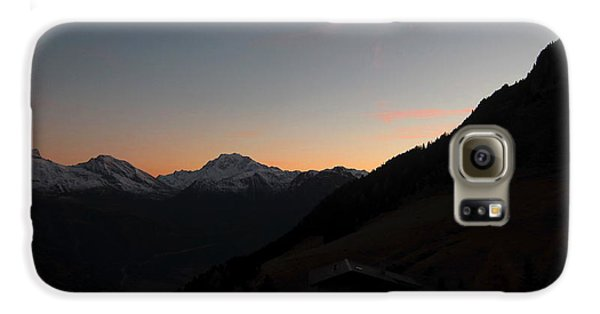 Sunset Afterglow In The Mountains Galaxy S6 Case