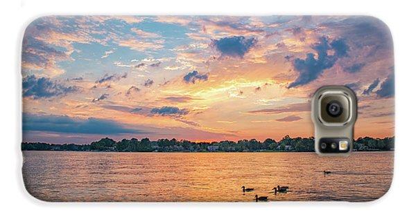 Sunset At Morse Lake Galaxy S6 Case
