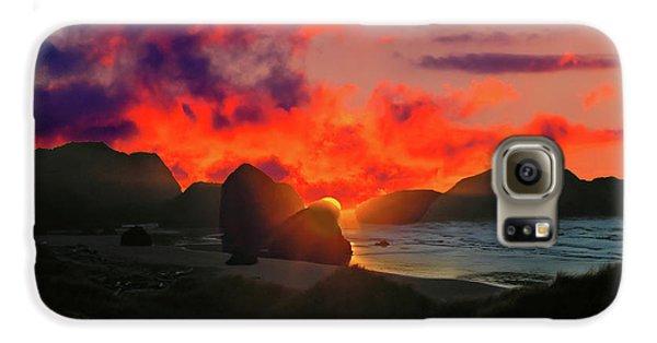 Sunset At Oregon Beach Galaxy S6 Case