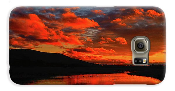 Sunset At Wallkill River National Wildlife Refuge Galaxy S6 Case