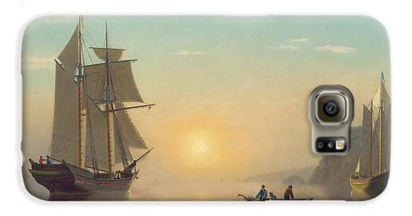 Boat Galaxy S6 Case - Sunset Calm In The Bay Of Fundy by William Bradford