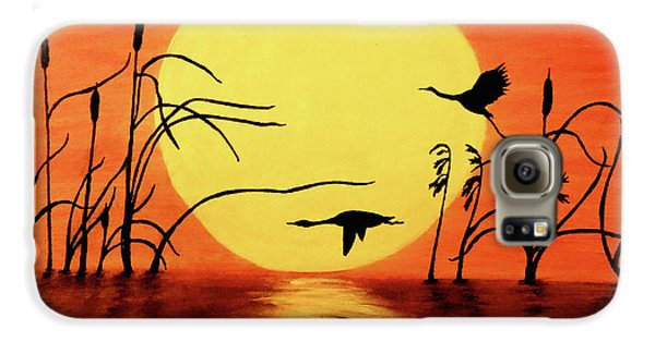 Sunset Geese Galaxy S6 Case by Teresa Wing