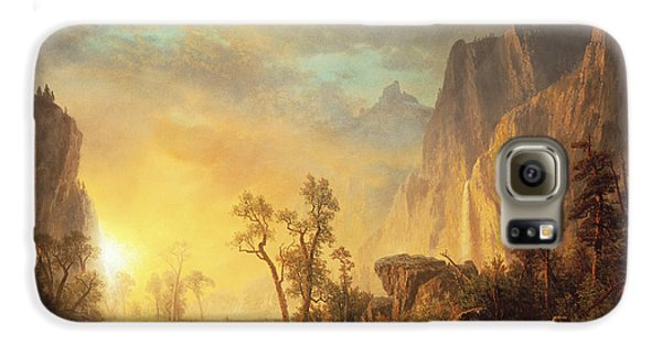 Mountain Galaxy S6 Case - Sunset In The Rockies by Albert Bierstadt
