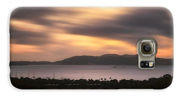 Galaxy S6 Case featuring the photograph Sunset Over St. John And St. Thomas Panoramic by Adam Romanowicz