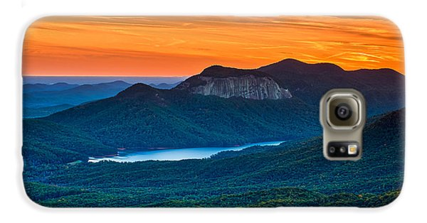 Sunset Over Table Rock From Caesars Head State Park South Carolina Galaxy S6 Case by T Lowry Wilson