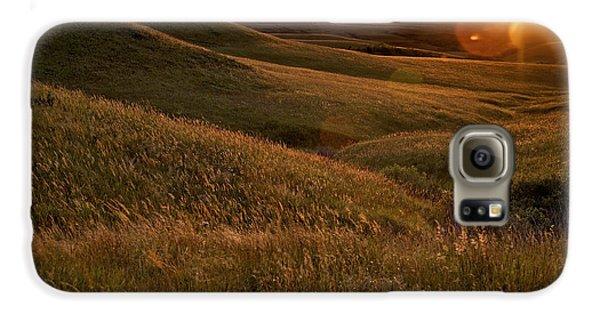 Sunset Over The Kansas Prairie Galaxy S6 Case