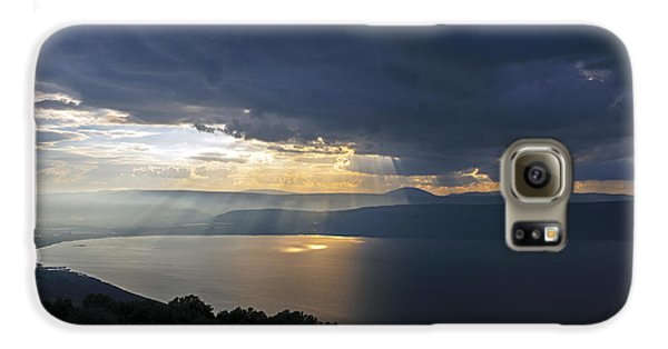Sunset Over The Sea Of Galilee Galaxy S6 Case by Dubi Roman