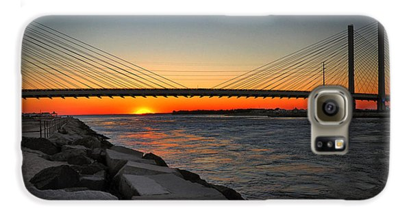 Sunset Under The Indian River Inlet Bridge Galaxy S6 Case