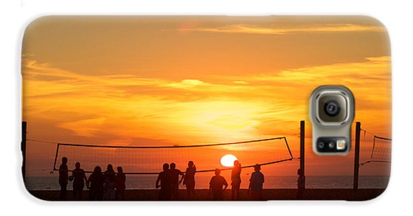 Sunset Volleyball Galaxy S6 Case by Kim Wilson