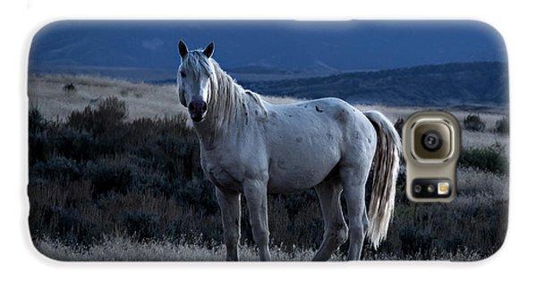 Sunset With Wild Stallion Tripod In Sand Wash Basin Galaxy S6 Case