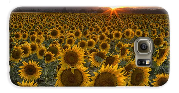 Mountain Sunset Galaxy S6 Case - Sunshine And Happiness by Mark Kiver