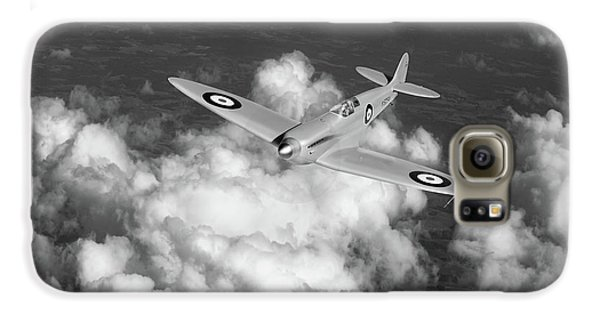 Galaxy S6 Case featuring the photograph Supermarine Spitfire Prototype K5054 Black And White Version by Gary Eason