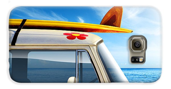 Flowers Galaxy S6 Case - Surf Van by Carlos Caetano