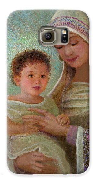 Galaxy S6 Case featuring the painting Sweet Grace Madonna And Child by Nancy Lee Moran