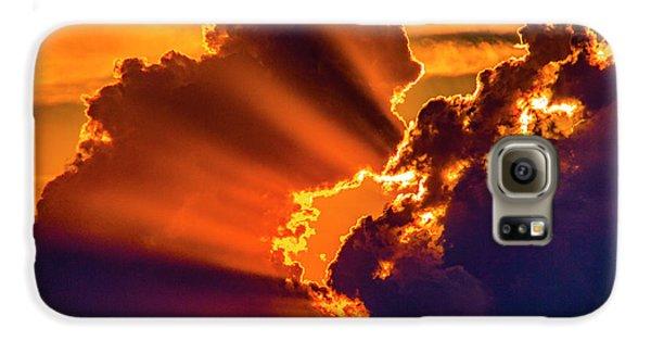 Nebraskasc Galaxy S6 Case - Sweet Nebraska Crepuscular Rays 010 by NebraskaSC