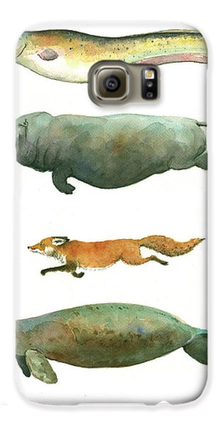 Swimming Animals Galaxy S6 Case by Juan Bosco
