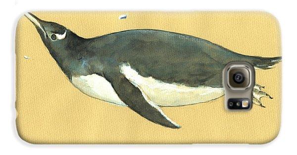 Penguin Galaxy S6 Case - Swimming Penguin by Juan  Bosco