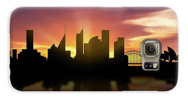 Sydney Skyline Sunset Ausy22 Galaxy S6 Case by Aged Pixel