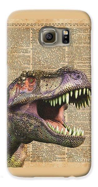 T-rex,tyrannosaurus,dinosaur Vintage Dictionary Art Galaxy S6 Case