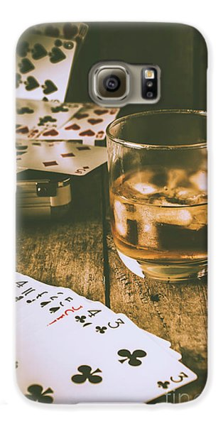 Table Games And The Wild West Saloon  Galaxy S6 Case