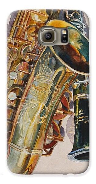 Saxophone Galaxy S6 Case - Taking A Shine To Each Other by Jenny Armitage