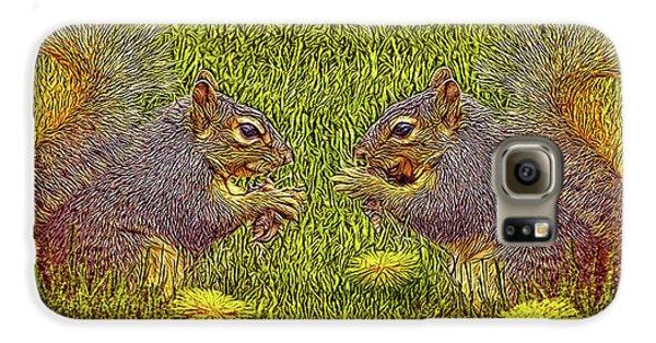 Tale Of Two Squirrels Galaxy S6 Case by Joel Bruce Wallach