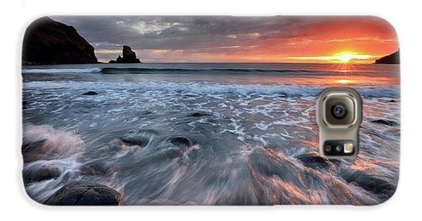 Talisker Bay Rocky Sunset Galaxy S6 Case by Grant Glendinning