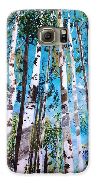 Galaxy S6 Case featuring the painting Tall Whites by Patti Ferron